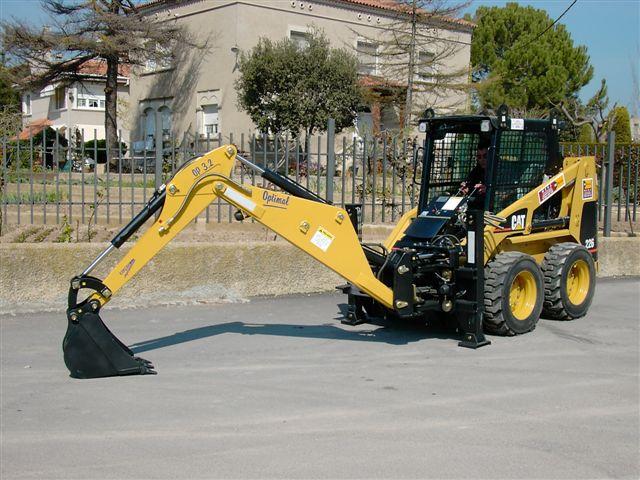 Brazo excavador en maquinaria pesada